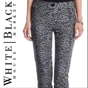 White House Black Market Pants Size 4 Animal Print